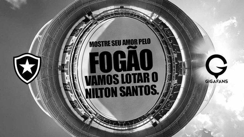 Botafogo e Gigafans promovem campanha para 'lotar' Nilton Santos e ajudar no combate à Covid-19