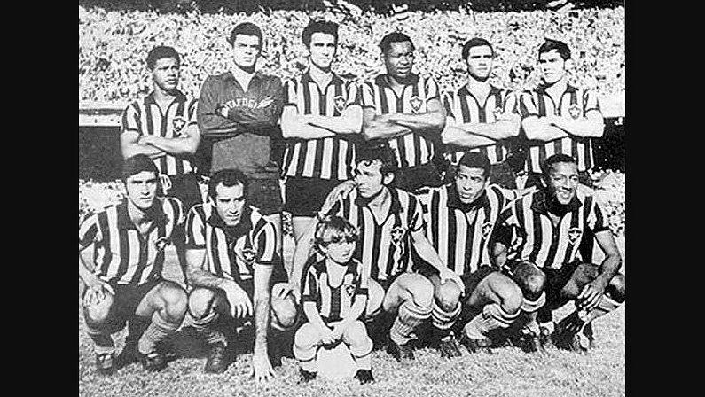 Time do Botafogo de 1968 - Jairzinho e Paulo Cezar Caju