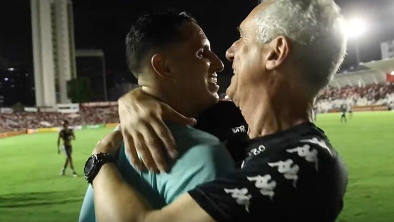 Gatito Fernández e Flávio Tênius após classificação do Botafogo sobre o Náutico   Copa do Brasil 2020