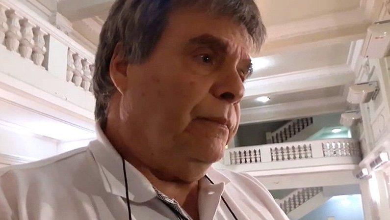 Luiz Felipe Novis, VP de Finanças do Botafogo, em General Severiano