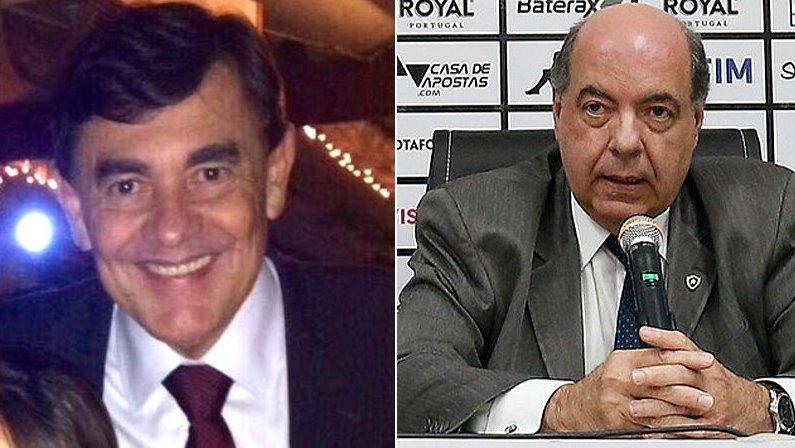 Walmer Machado e Nelson Mufarrej, presidente do Botafogo