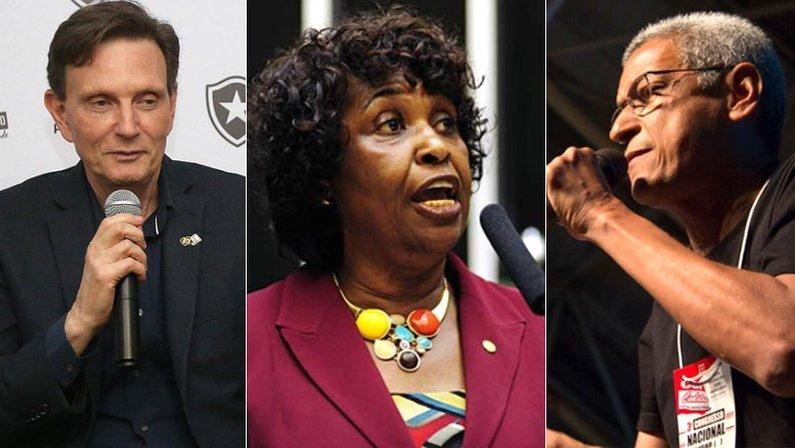 Marcelo Crivella, Benedita da Silva e Cyro Garcia: candidatos à prefeitura do Rio de Janeiro em 2020 e torcedores do Botafogo