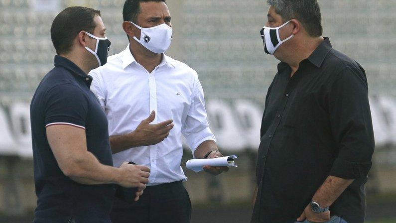Adriano Colares, Tulio Lustosa e Marco Agostini - Botafogo