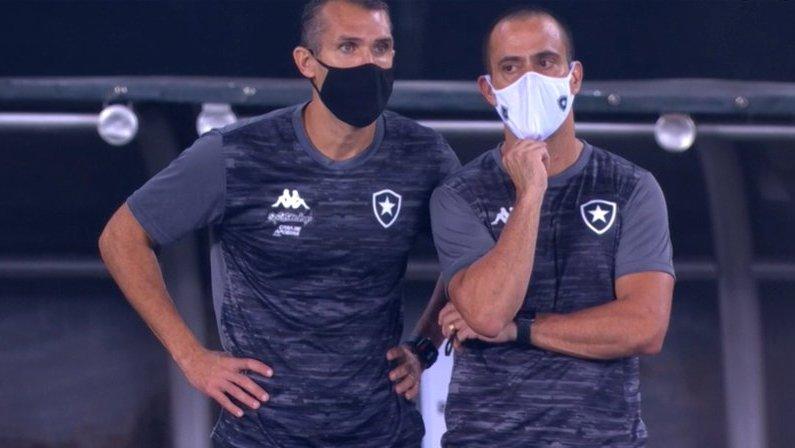 Bruno Lazaroni e Fábio Lefundes em Botafogo x Palmeiras   Campeonato Brasileiro 2020