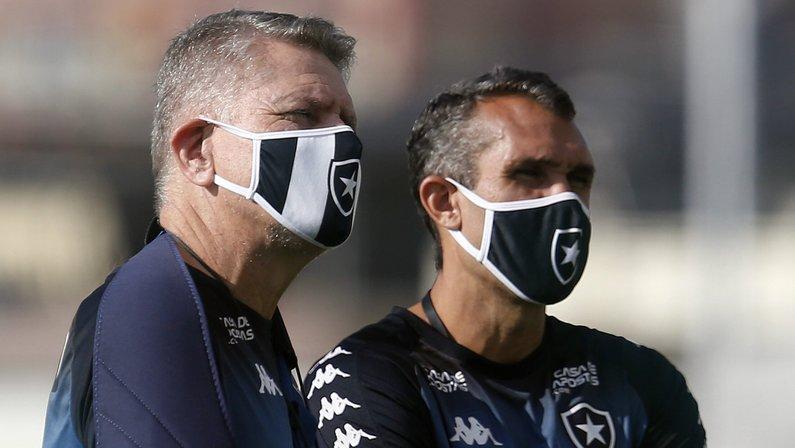 Paulo Autuori e Bruno Lazaroni - Botafogo