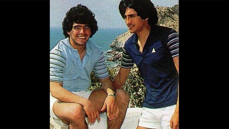 Maradona e Ramón Díaz, hoje técnico do Botafogo