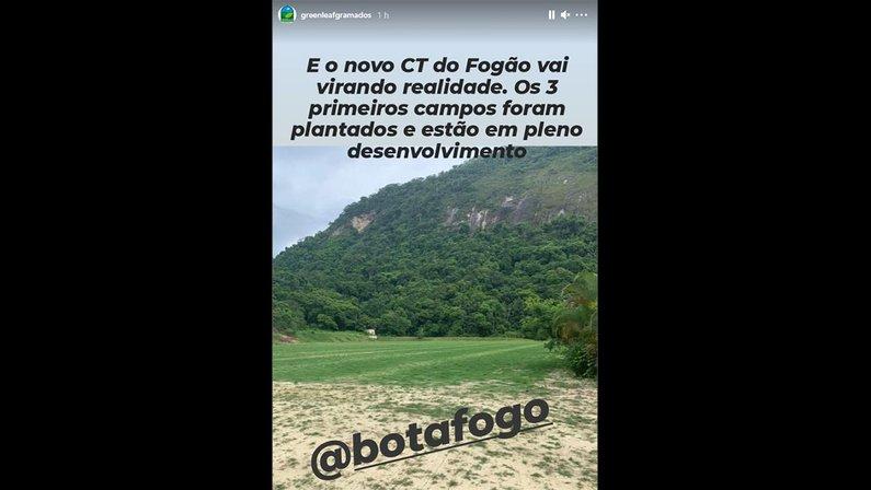 Greenleaf divulga foto dos campos do novo CT do Botafogo