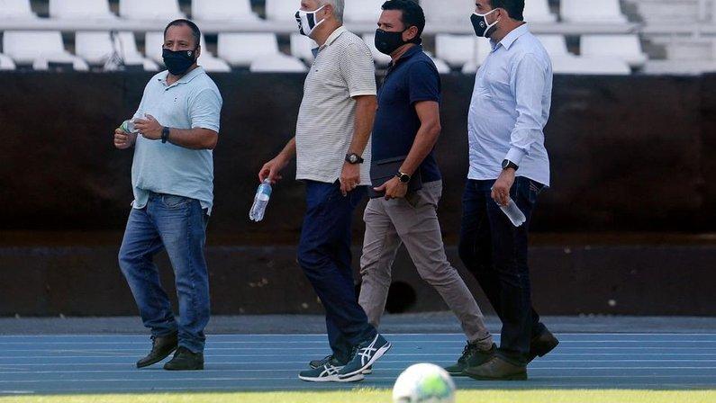 Vinicius Assumpção, Túlio Lustosa e André Souza no Botafogo