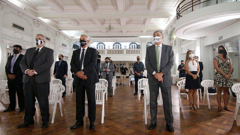 Sessão do Conselho Deliberativo em General Severiano - Posse do presidente do Botafogo Durcesio Mello e do vice Vinicius Assumpção