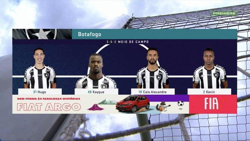 Em gafe do Premiere, Kelvin aparece na escalação do Botafogo contra o Goiás