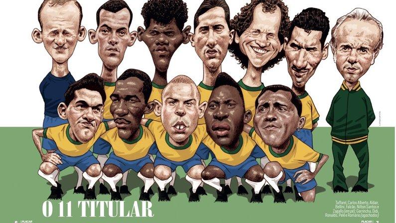 Revista Placar elege Seleção Brasileira de todos os tempos