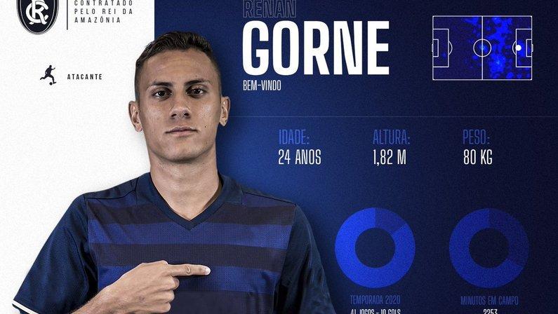 Renan Gorne é anunciado pelo Clube do Remo