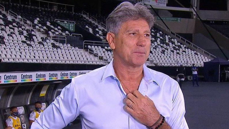 Renato Gaúcho em Botafogo x Grêmio | Campeonato Brasileiro 2020