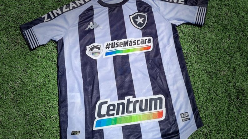 Em parceria com Centrum, Botafogo terá diante do Flamengo camisa com campanha contra a Covid-19: 'Use máscara'