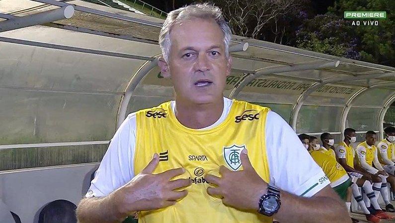 Lisca Doido, do América-MG, critica CBF por tabela da Copa do Brasil durante crise do novo coronavírus no Brasil