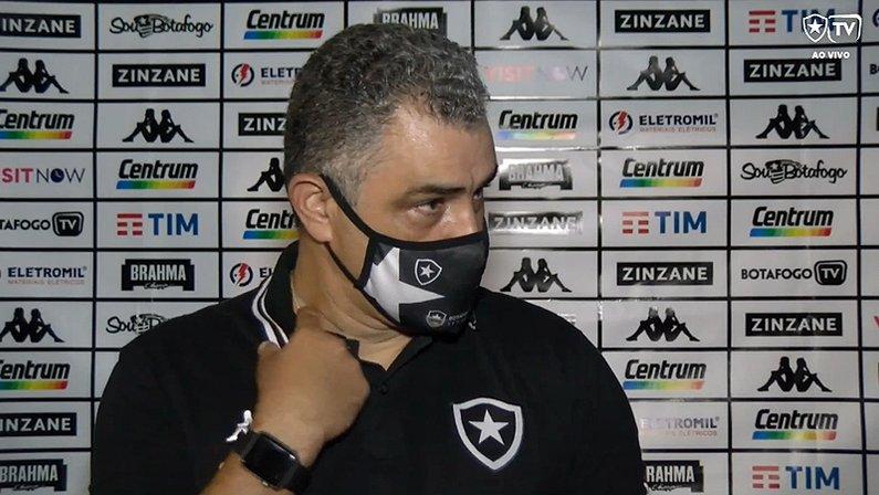 Marcelo Chamusca em Botafogo x Madureira   Campeonato Carioca 2021
