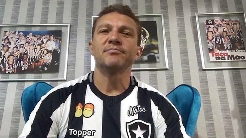 Sinval, atacante do Botafogo na Conmebol de 1993