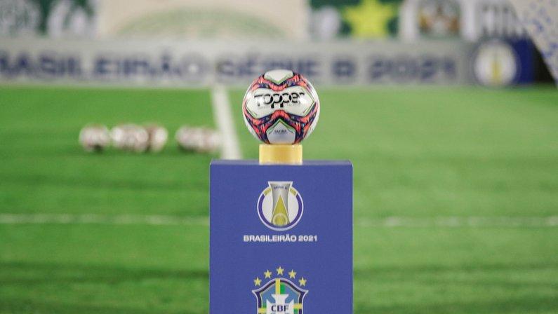 Totem e bola do Campeonato Brasileiro Brasileirão Série B da CBF