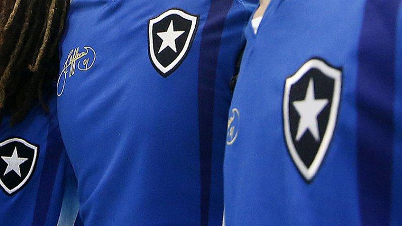Camisa azul do Botafogo da despedida do goleiro Jefferson