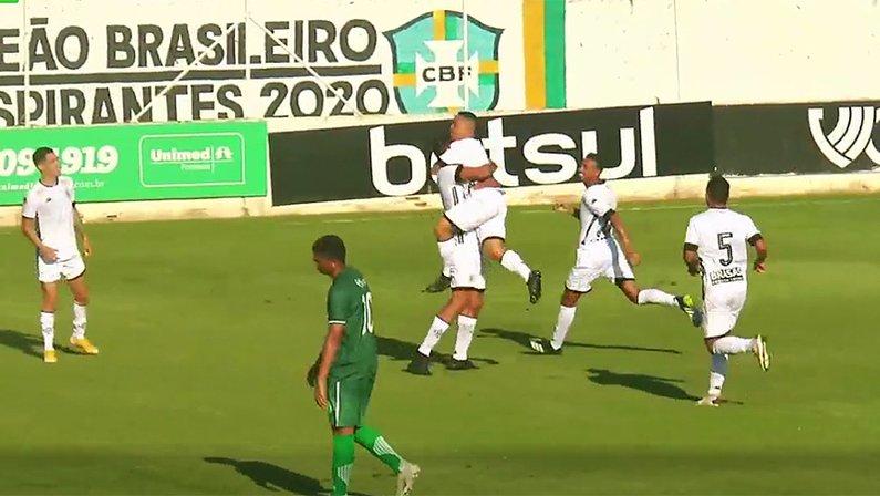 Rikelmi comemora gol em Floresta x Botafogo   Copa do Brasil Sub-20