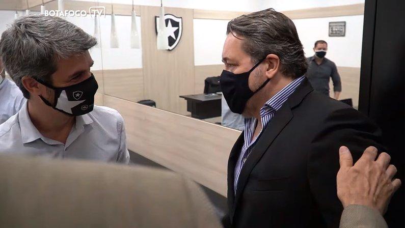 Eduardo Freeland e CEO Jorge Braga - Botafogo