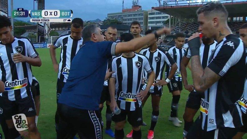 Marcelo Chamusca e elenco - Vasco x Botafogo - Final da Taça Rio
