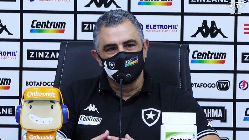 Marcelo Chamusca em Botafogo x Nova Iguaçu | Semifinal da Taça Rio | Campeonato Carioca 2021