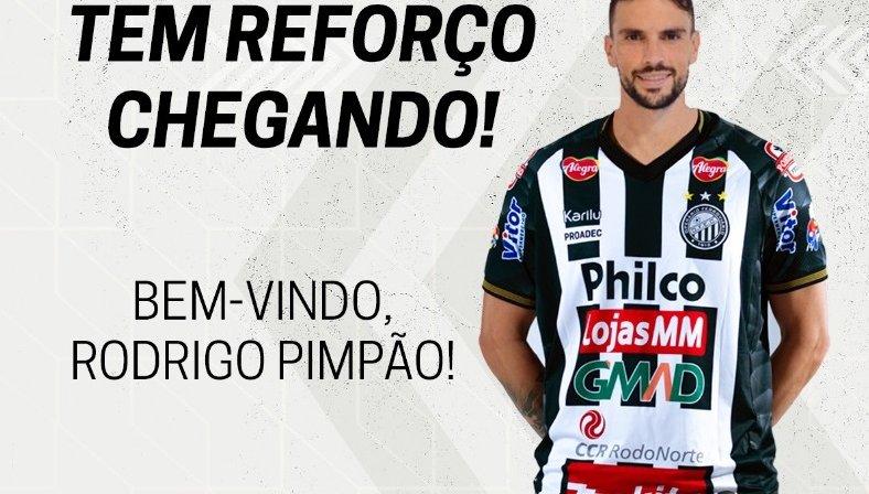 Ex-Botafogo, Rodrigo Pimpão é novo reforço do Operário-PR para Série B