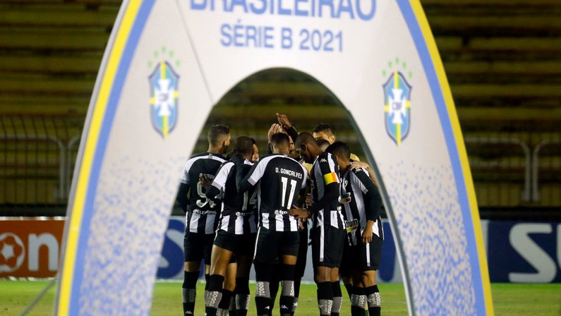 Em todas as vitórias na Série B, Botafogo não sofreu gols