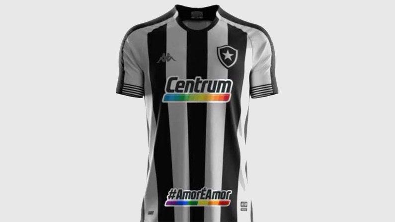 Botafogo terá frase 'Amor é amor' no uniforme contra o Vitória pelo dia do orgulho internacional LGBTQIA+