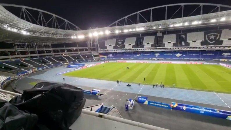 Estádio Nilton Santos, do Botafogo, na véspera de Argentina x Chile pela Copa América
