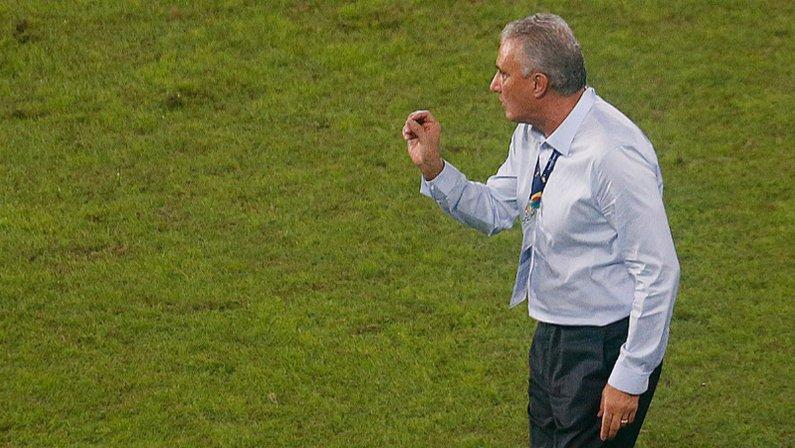 Tite em Brasil x Colômbia no Estádio Nilton Santos | Copa América 2021