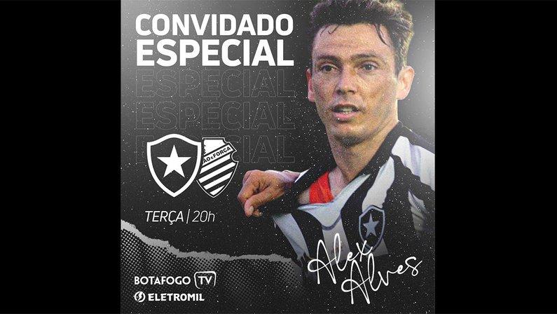 Alex Alves é o comentarista convidado da Botafogo TV para transmissão de duelo com o CSA