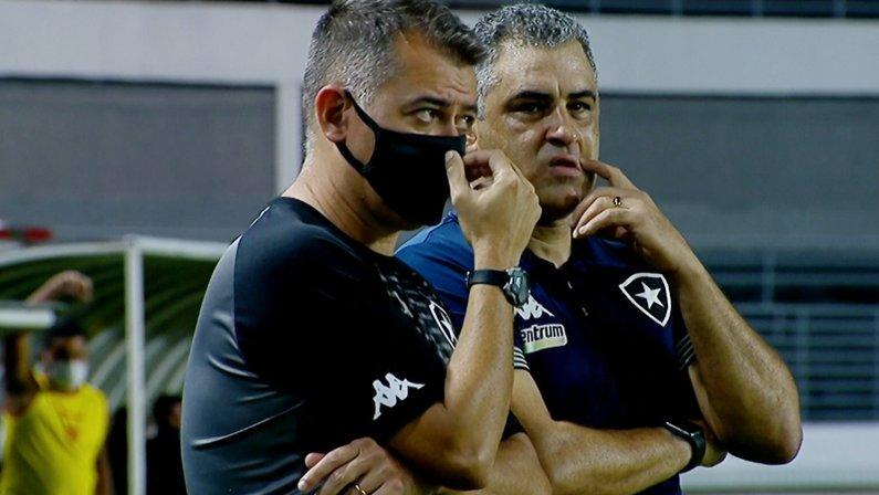 Caio Autuori e Marcelo Chamusca em CRB x Botafogo   Série B do Campeonato Brasileiro 2021