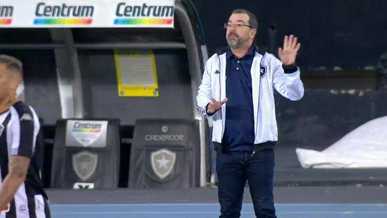 Enderson Moreira em Botafogo x Vasco   Série B do Campeonato Brasileiro 2021