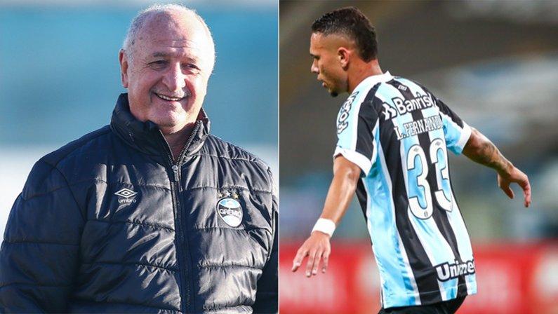 Luiz Felipe Scolari (Felipão) deposita confiança em Luiz Fernando, emprestado pelo Botafogo, no Grêmio