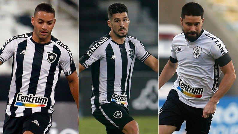 Marcinho, Felipe Ferreira e Ricardinho - Botafogo