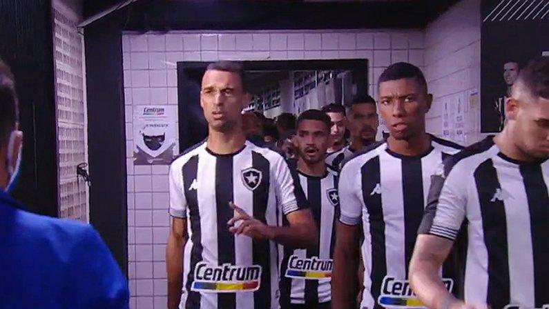 Gilvan, Kanu e demais jogadores do elenco alvinegro em Botafogo x Goiás | Série B do Campeonato Brasileiro 2021