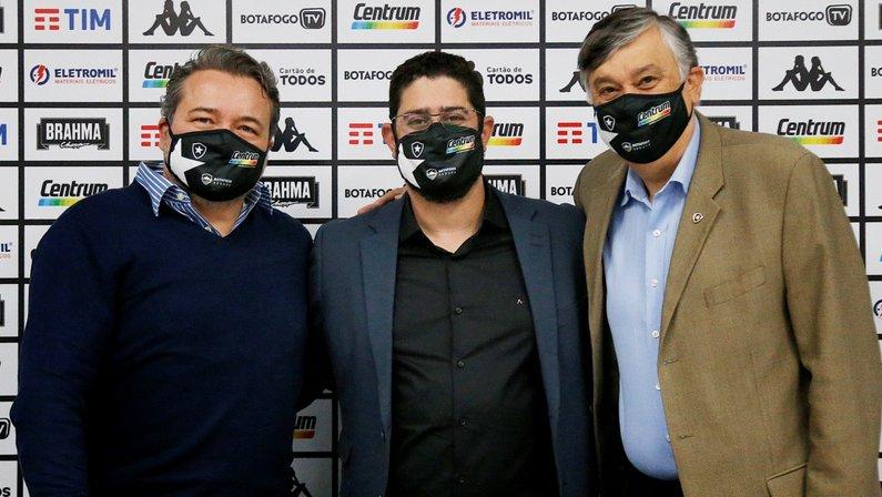 Jorge Braga, Lênin Franco e Durcesio Mello no Botafogo
