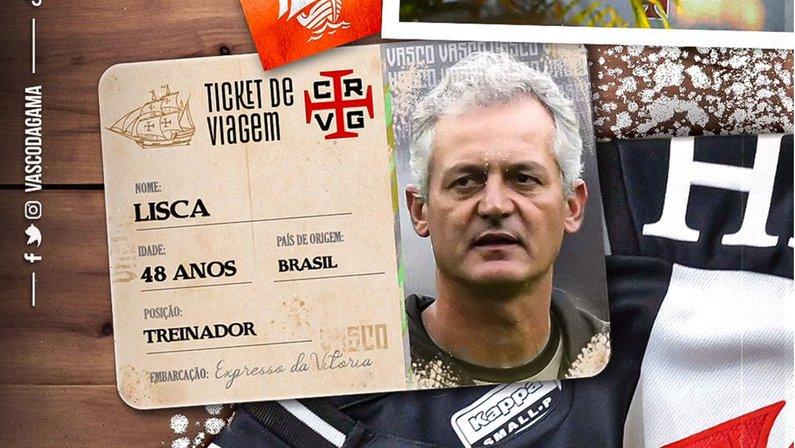 Alvo do Botafogo, Lisca é anunciado como novo técnico do Vasco da Gama