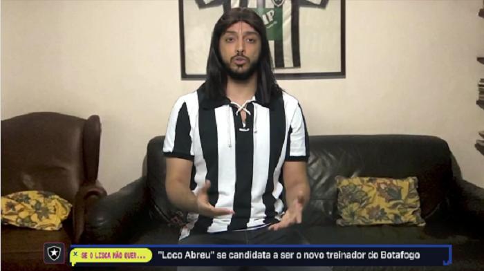 Magno Navarro imita Loco Abreu, ídolo do Botafogo