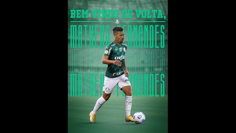 Palmeiras anuncia Matheus Fernandes, ex-Botafogo e Barcelona