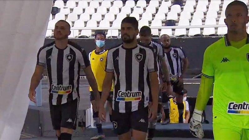 Elenco (jogadores) - Pedro Castro, Daniel Borges e Diego Loureiro em Botafogo x Cruzeiro   Série B do Campeonato Brasileiro