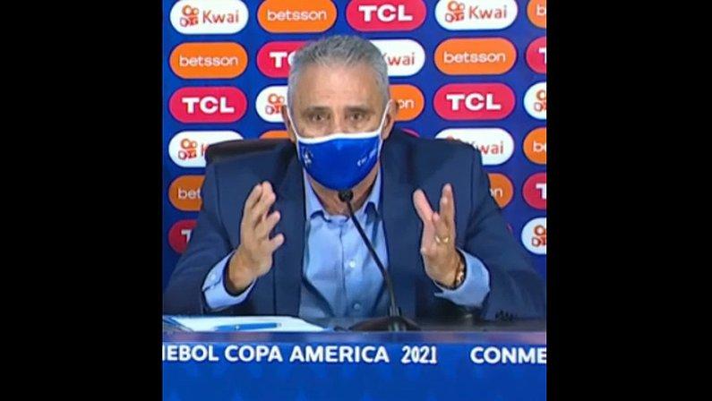 Entrevista de Tite após Brasil 1 x 0 Chile no Estádio Nilton Santos | Copa América 2021