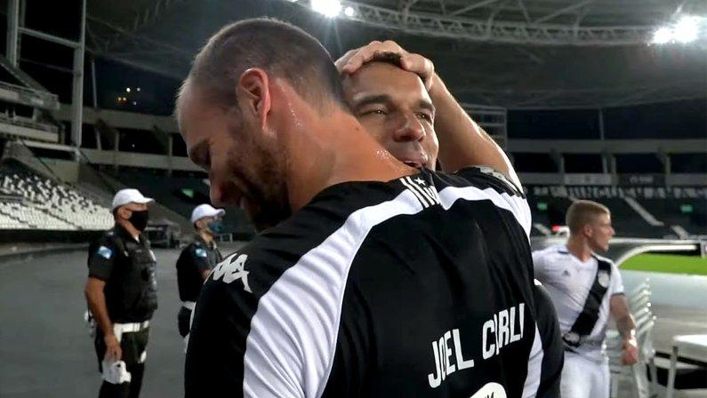 Gilvan e Carli - Botafogo x Ponte Preta