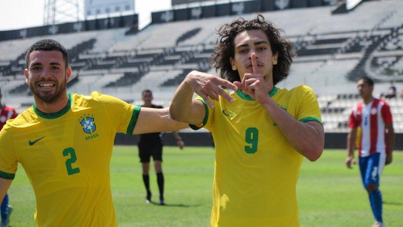 Matheus Nascimento - Paraguai x Seleção Brasileira Sub-17