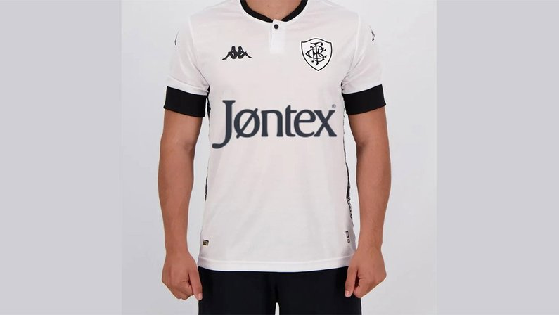 Montagem da camisa do Botafogo com o patrocínio da Jontex
