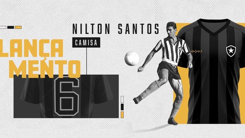 Botafogo lança camisa especial de Nilton Santos