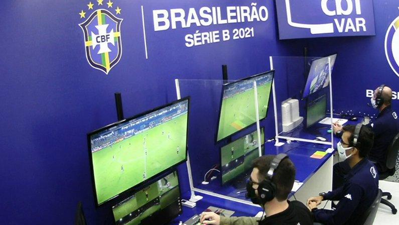 Cabine do VAR em Remo x Botafogo | Série B do Campeonato Brasileiro 2021