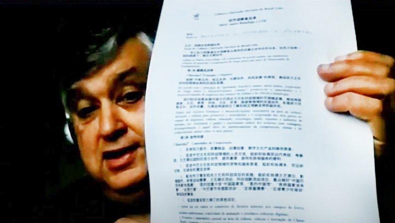Presidente do Botafogo, Durcesio Mello assina memorando de cooperação com a China